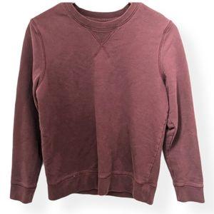 Grana-Maroon Crewneck Sweatshirt